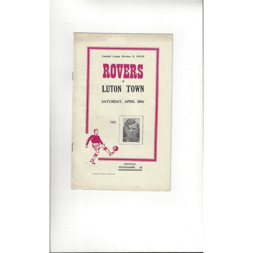 1954/55 Doncaster Rovers v Luton Town Football Programme