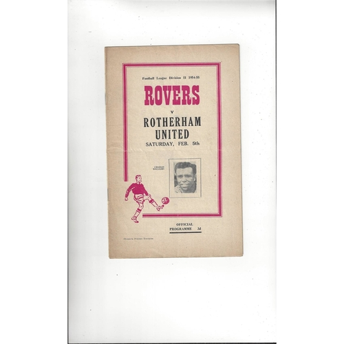 1954/55 Doncaster Rovers v Rotherham United Football Programme