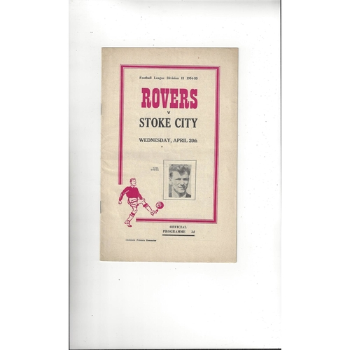 1954/55 Doncaster Rovers v Stoke City Football Programme