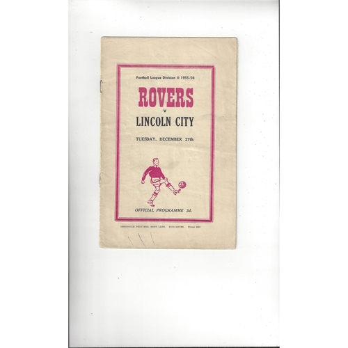 1955/56 Doncaster Rovers v Lincoln City Football Programme