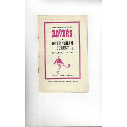 1955/56 Doncaster Rovers v Nottingham Forest Football Programme