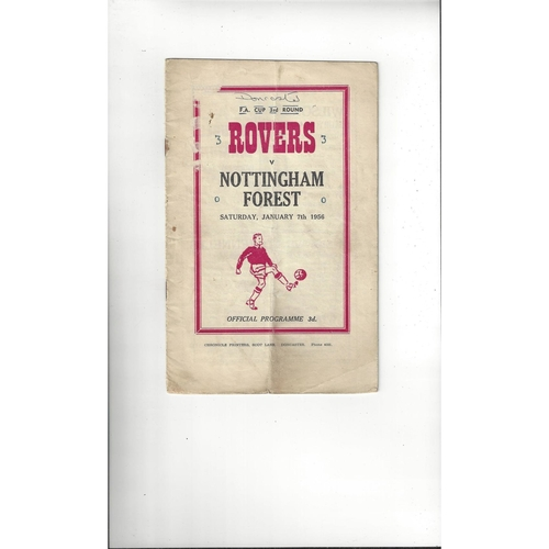 1955/56 Doncaster Rovers v Nottingham Forest FA Cup Football Programme