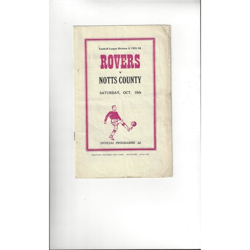 1955/56 Doncaster Rovers v Notts County Football Programme