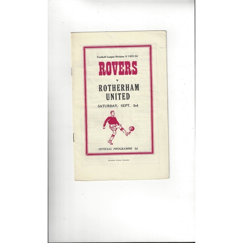 1955/56 Doncaster Rovers v Rotherham United Football Programme