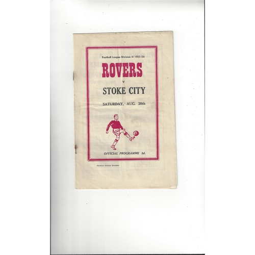 1955/56 Doncaster Rovers v Stoke City Football Programme