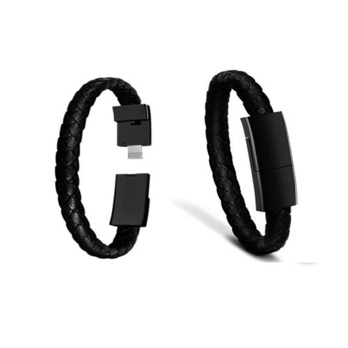 Leather Apple Compatible USB Charging Bracelet