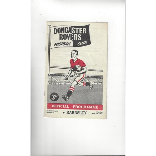 1956/57 Doncaster Rovers v Barnsley Football Programme