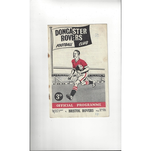 1956/57 Doncaster Rovers v Bristol Rovers Football Programme