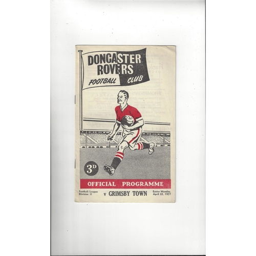1956/57 Doncaster Rovers v Grimsby Town Football Programme