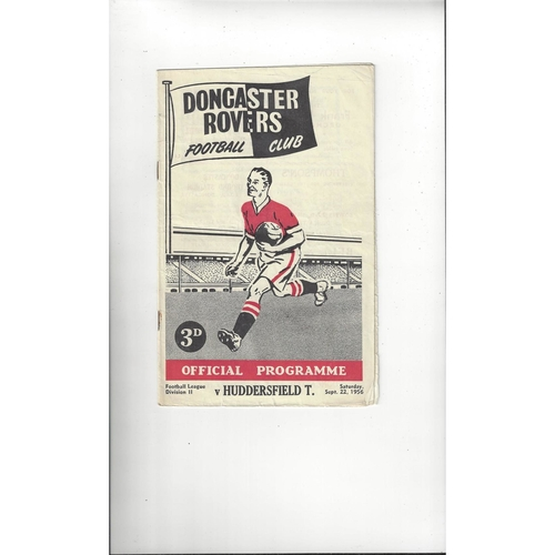 1956/57 Doncaster Rovers v Huddersfield Town Football Programme