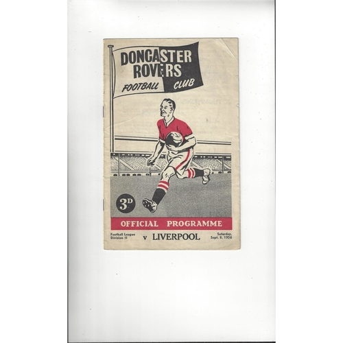 1956/57 Doncaster Rovers v Liverpool Football Programme