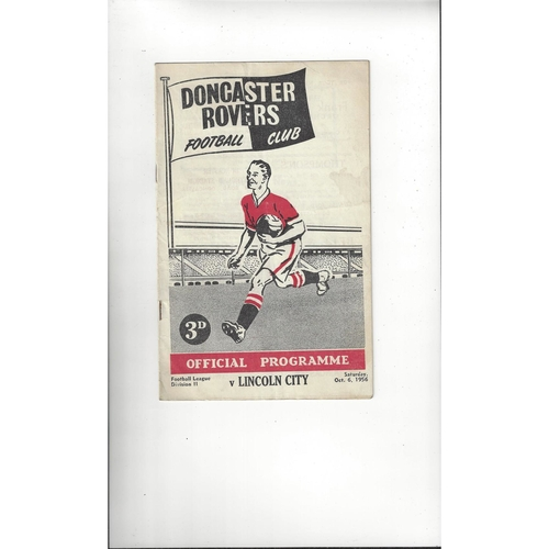1956/57 Doncaster Rovers v Lincoln City Football Programme