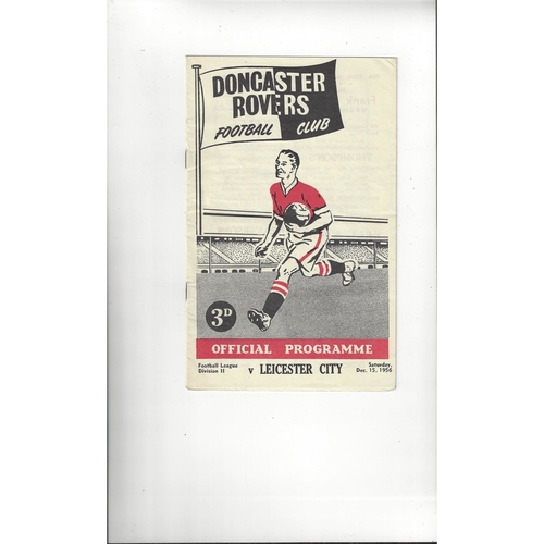 1956/57 Doncaster Rovers v Leicester City Football Programme