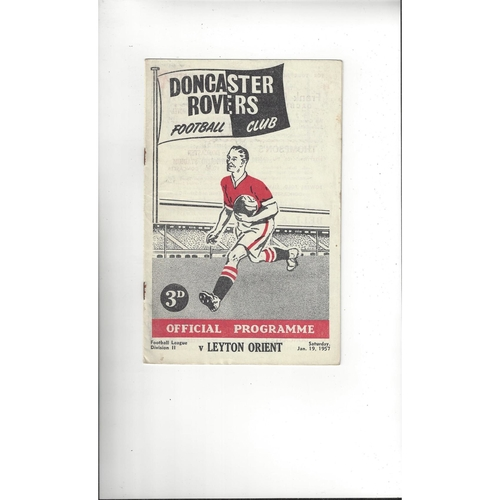 1956/57 Doncaster Rovers v Leyton Orient Football Programme