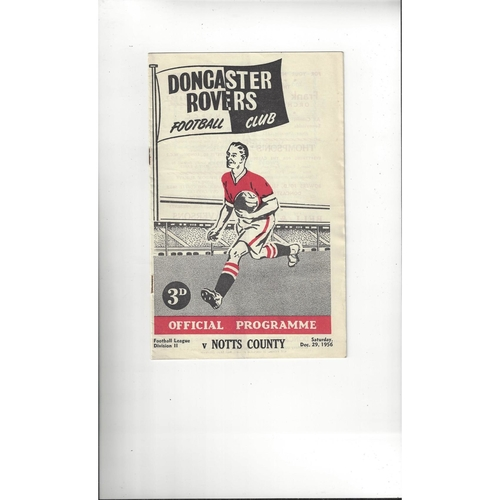 1956/57 Doncaster Rovers v Notts County Football Programme