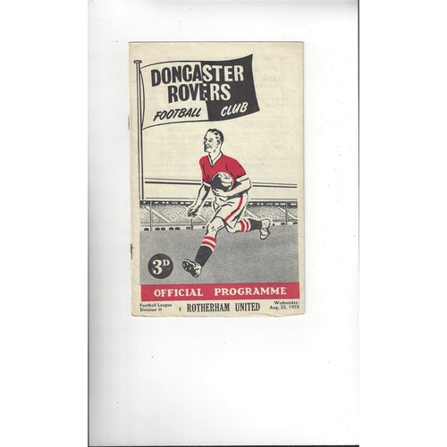 1956/57 Doncaster Rovers v Rotherham United Football Programme