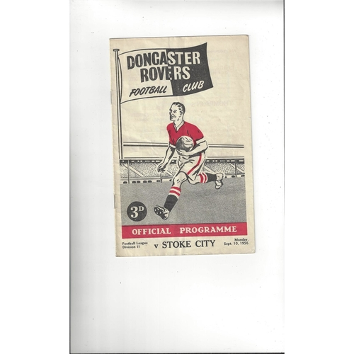 1956/57 Doncaster Rovers v Stoke City Football Programme
