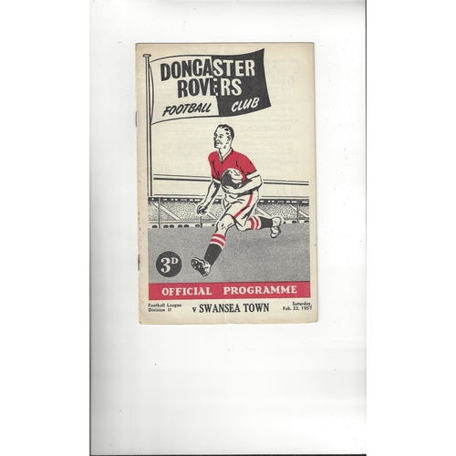 1956/57 Doncaster Rovers v Swansea Football Programme