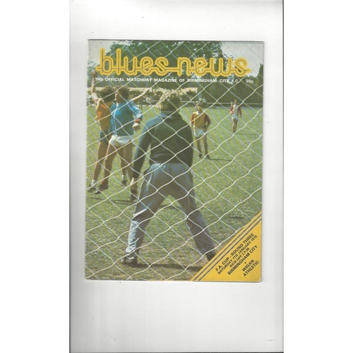 Birmingham City v Wigan Athletic FA Cup Football Programme 1977/78