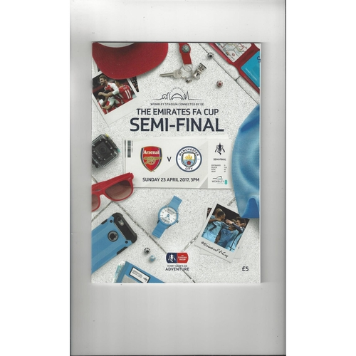 2017 Arsenal v Manchester City FA Cup Semi Final Football Programme