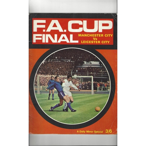 1969 Leicester City v Manchester City FA Cup Final Daily Mirror Special