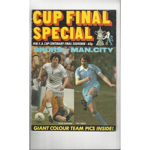1981 FA Cup Final Special Souvenir Poster