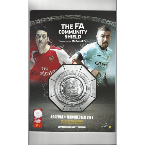 2014 Arsenal v Manchester City Charity Shield Football Programme