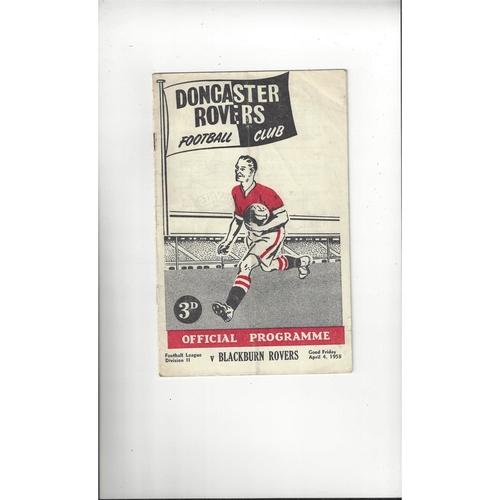 1957/58 Doncaster Rovers v Blackburn Rovers Football Programme