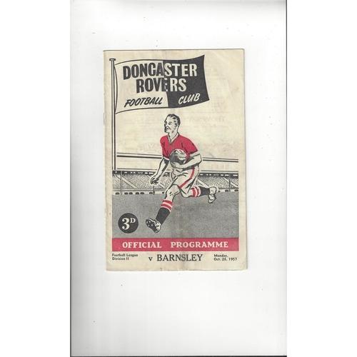 1957/58 Doncaster Rovers v Barnsley Football Programme