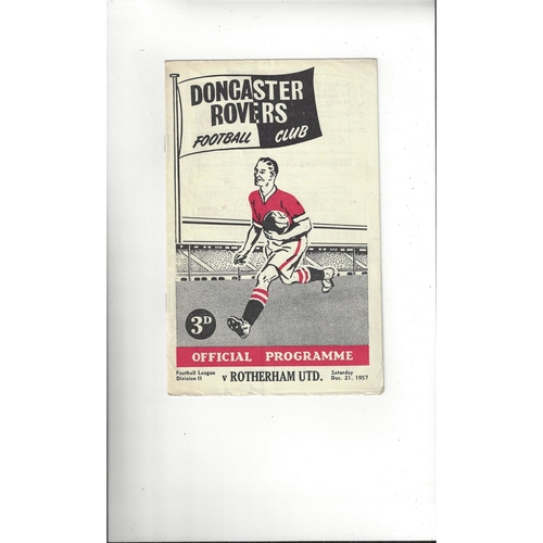 1957/58 Doncaster Rovers v Rotherham United Football Programme