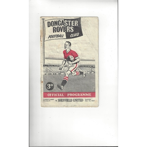 1957/58 Doncaster Rovers v Sheffield United Football Programme