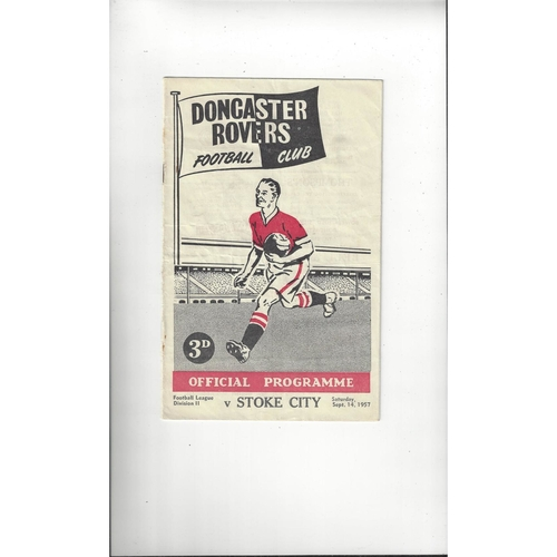 1957/58 Doncaster Rovers v Stoke City Football Programme