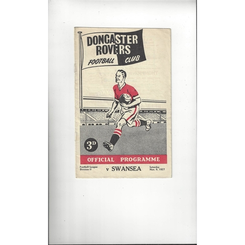 1957/58 Doncaster Rovers v Swansea Football Programme