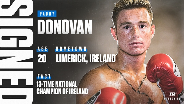 Top Rank Signs Irish Amateur Sensation Paddy Donovan