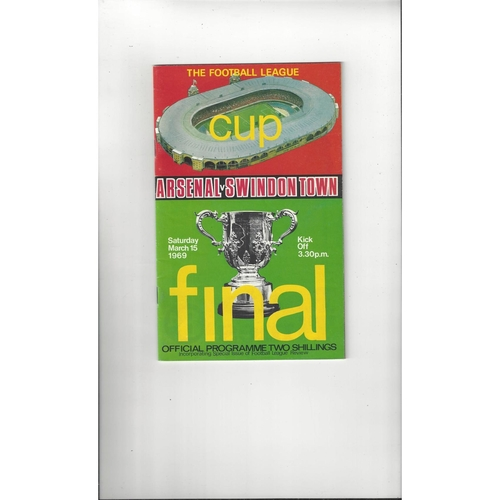 1969 Arsenal v Swindon Town League Cup Final Football Programme + League Review