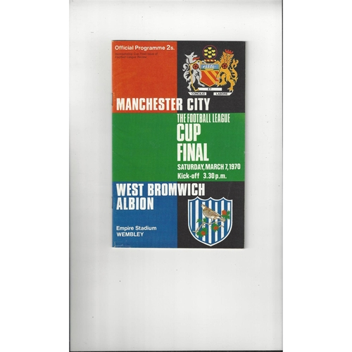 1970 Manchester City v West Bromwich Albion League Cup Final Football Programme + League Review