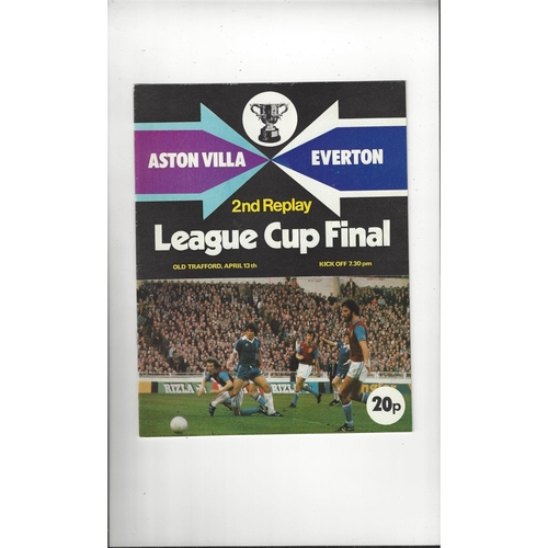 1977 Aston Villa v Everton League Cup Final 2nd Replay Football Programme