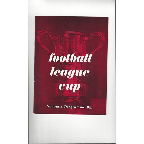 1974 League Cup Souvenir Brochure - Red Cover