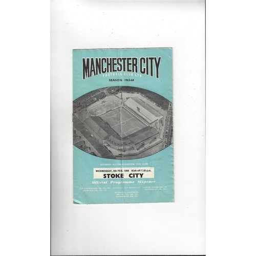 1963/64 Manchester City v Stoke City League Cup Semi Final