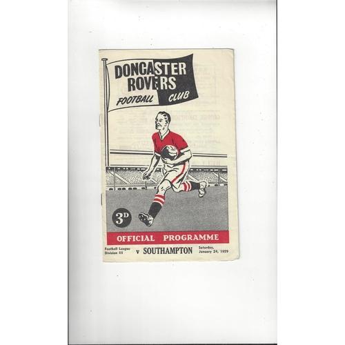 1958/59 Doncaster Rovers v Southampton Football Programme