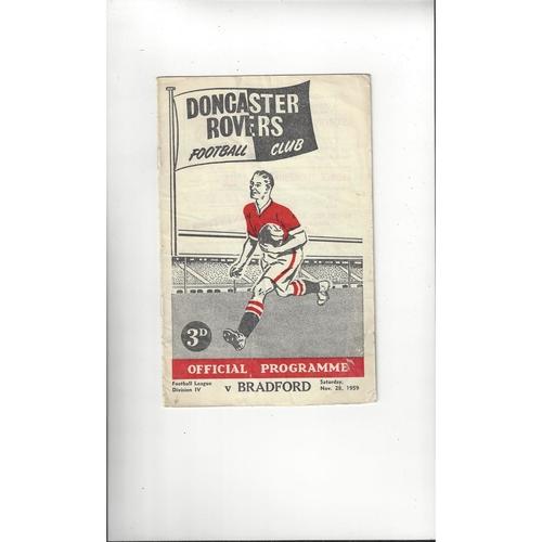 1959/60 Doncaster Rovers v Bradford Park Avenue Football Programme