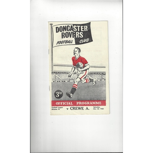 1959/60 Doncaster Rovers v Crewe Alexandra Football Programme