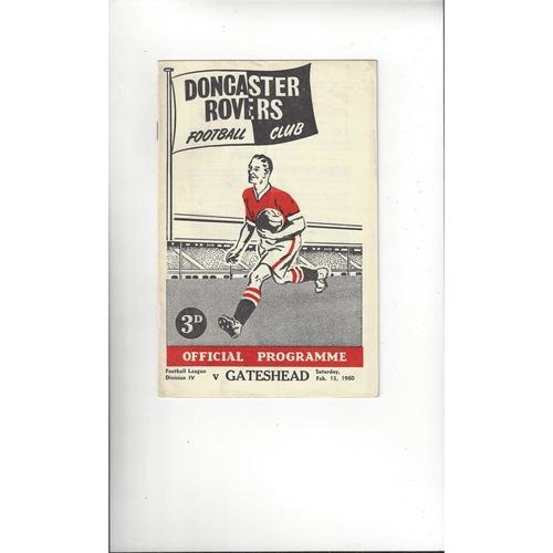 1959/60 Doncaster Rovers v Gateshead Football Programme