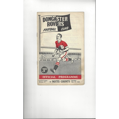 1959/60 Doncaster Rovers v Notts County Football Programme