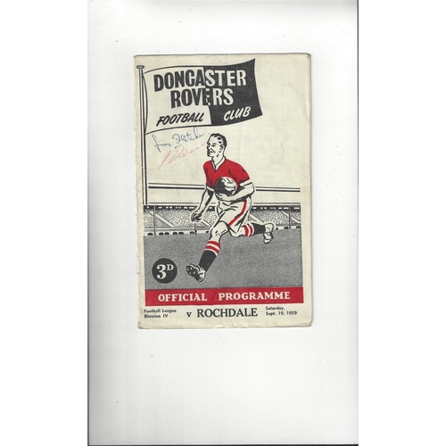 1959/60 Doncaster Rovers v Rochdale Football Programme