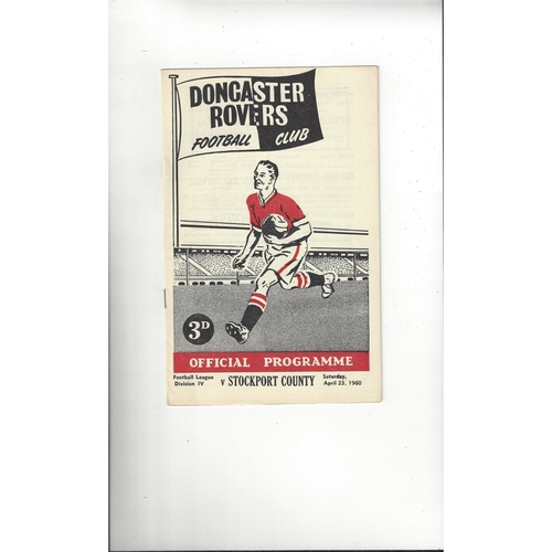 1959/60 Doncaster Rovers v Stockport County Football Programme