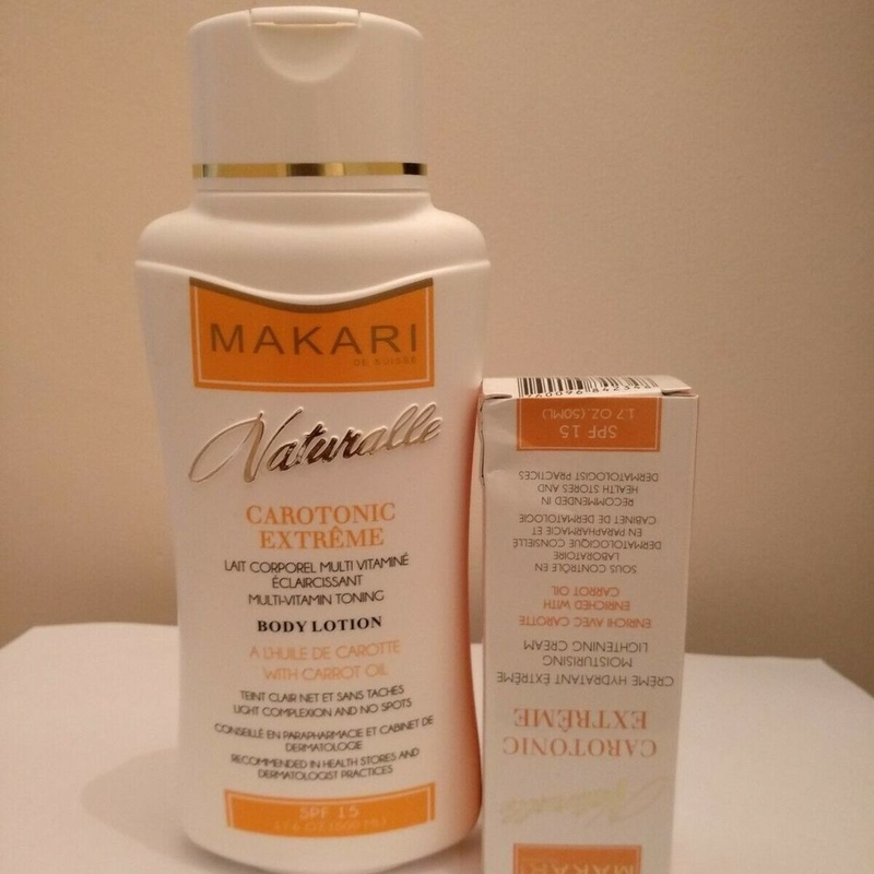 Makari Naturalle Carotonic Lotion and Cream Enriched With Carrot Oil