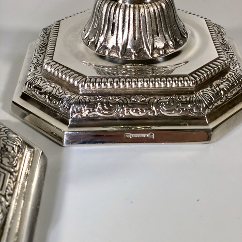Magnificent Christofle silver plated candlesticks