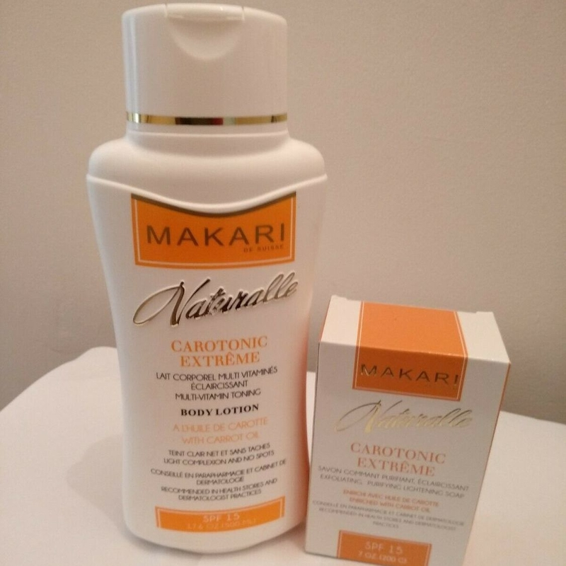 Makari Naturalle Carotonic Lotion and Soap Enriched With Carrot Oil