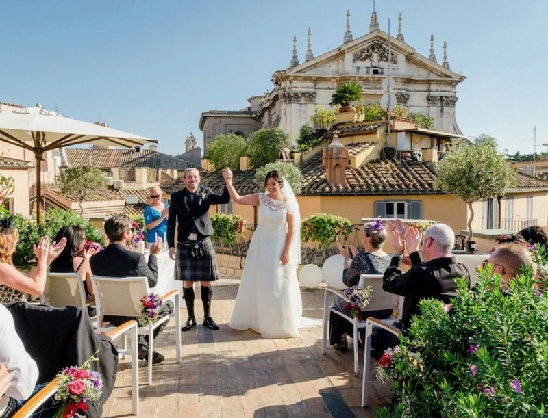 rome rooftop wedding